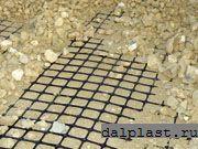 Армирование пластиковой сеткой