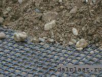 Применение геосетки на стройке